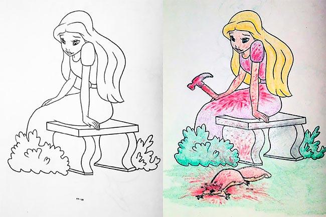 Когда взрослые берут в руки раскраску для детей...