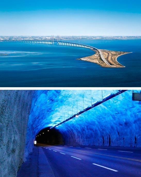 Самые фантастичные современные мосты Эресунский мост
