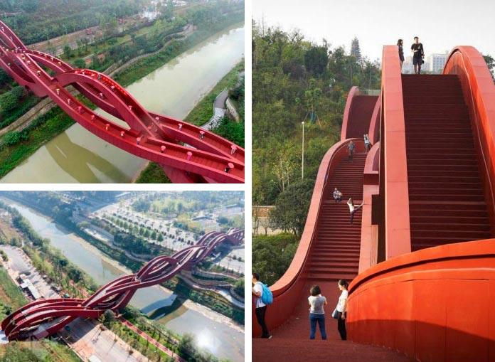 Самые фантастичные современные мосты «Счастливый узел»