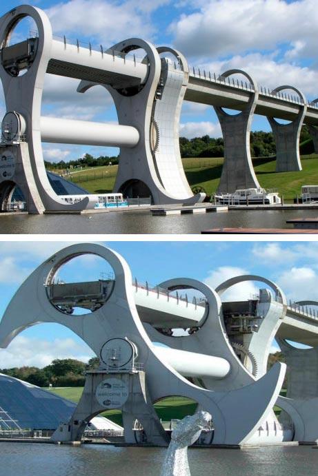 Самые фантастичные современные мосты Фолкеркское колесо