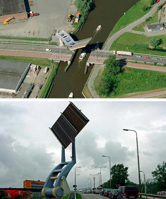 Самые фантастичные современные мосты Подъемный мост