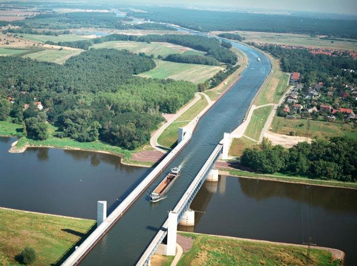 Самые фантастичные современные мосты Водный мост