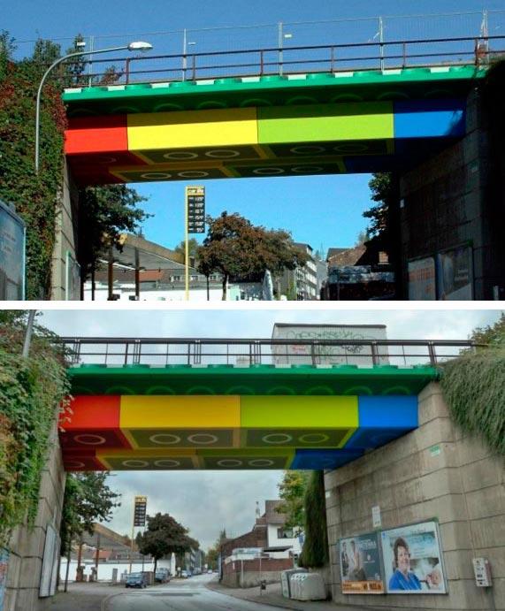 Самые фантастичные современные мосты Лего-мост