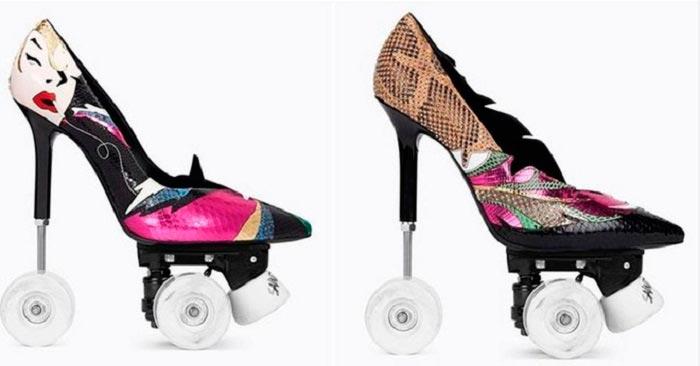 Yves Saint Laurent презентовал туфли на колесах