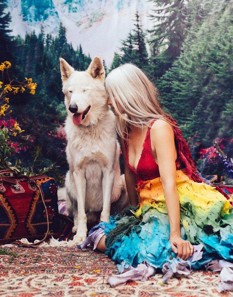 Крутая фотосессия с животными, которых спасли от продажи на черном рынке Волк