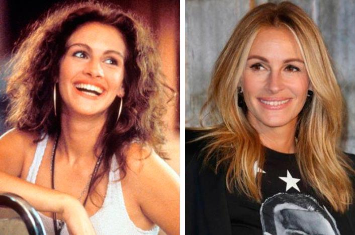 Актеры культовых фильмов 90-х: тогда и сейчас Красотка Джулия Робертс