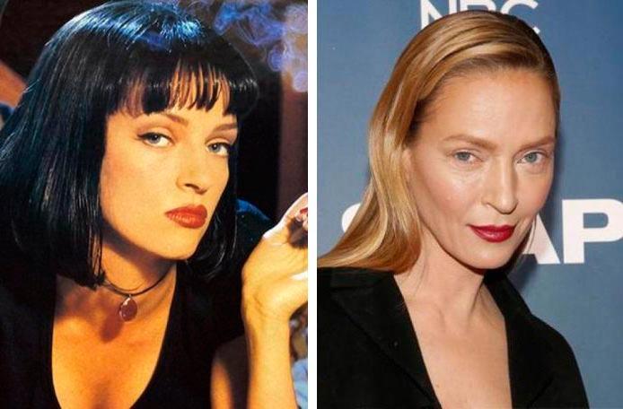 Актеры культовых фильмов 90-х: тогда и сейчас Криминальное чтиво Ума Турман