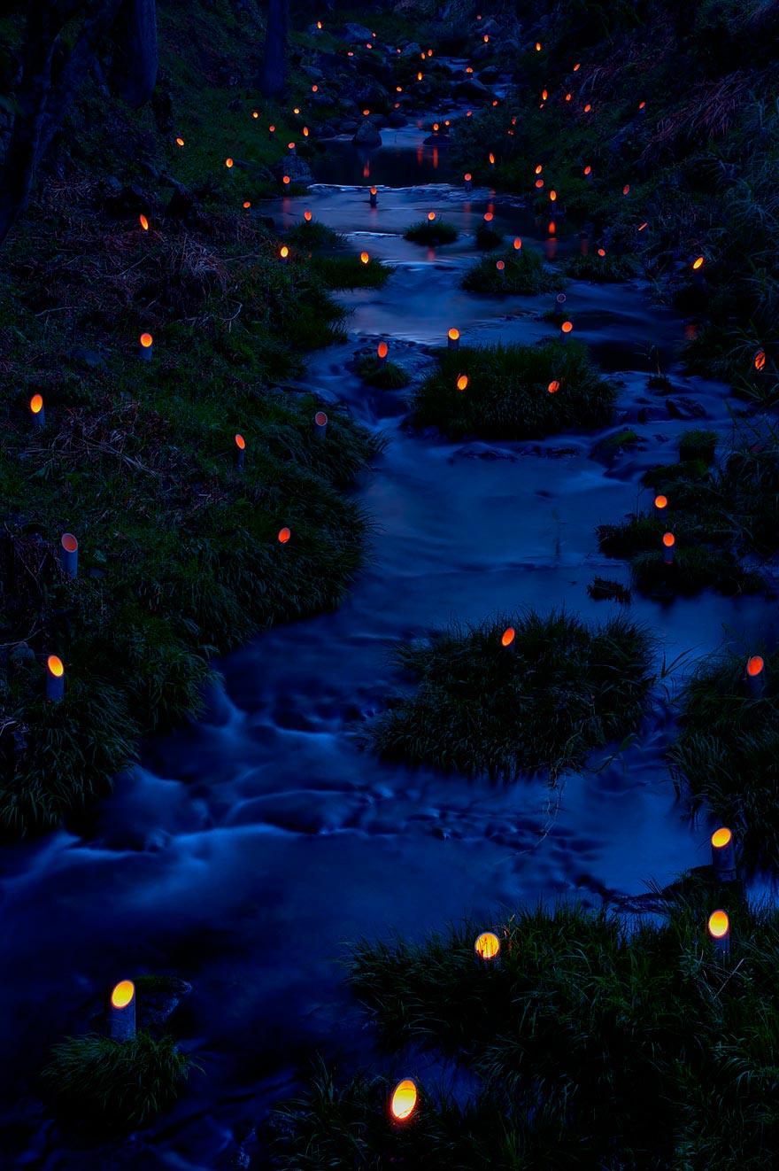 Япония: самые красивые места Japan Фестиваль бамбуковых светильников в городе Такета