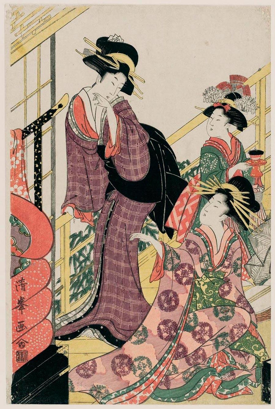 On-line архив японских гравюр, созданных с 1700-х годов до наших дней Тории Киёмине
