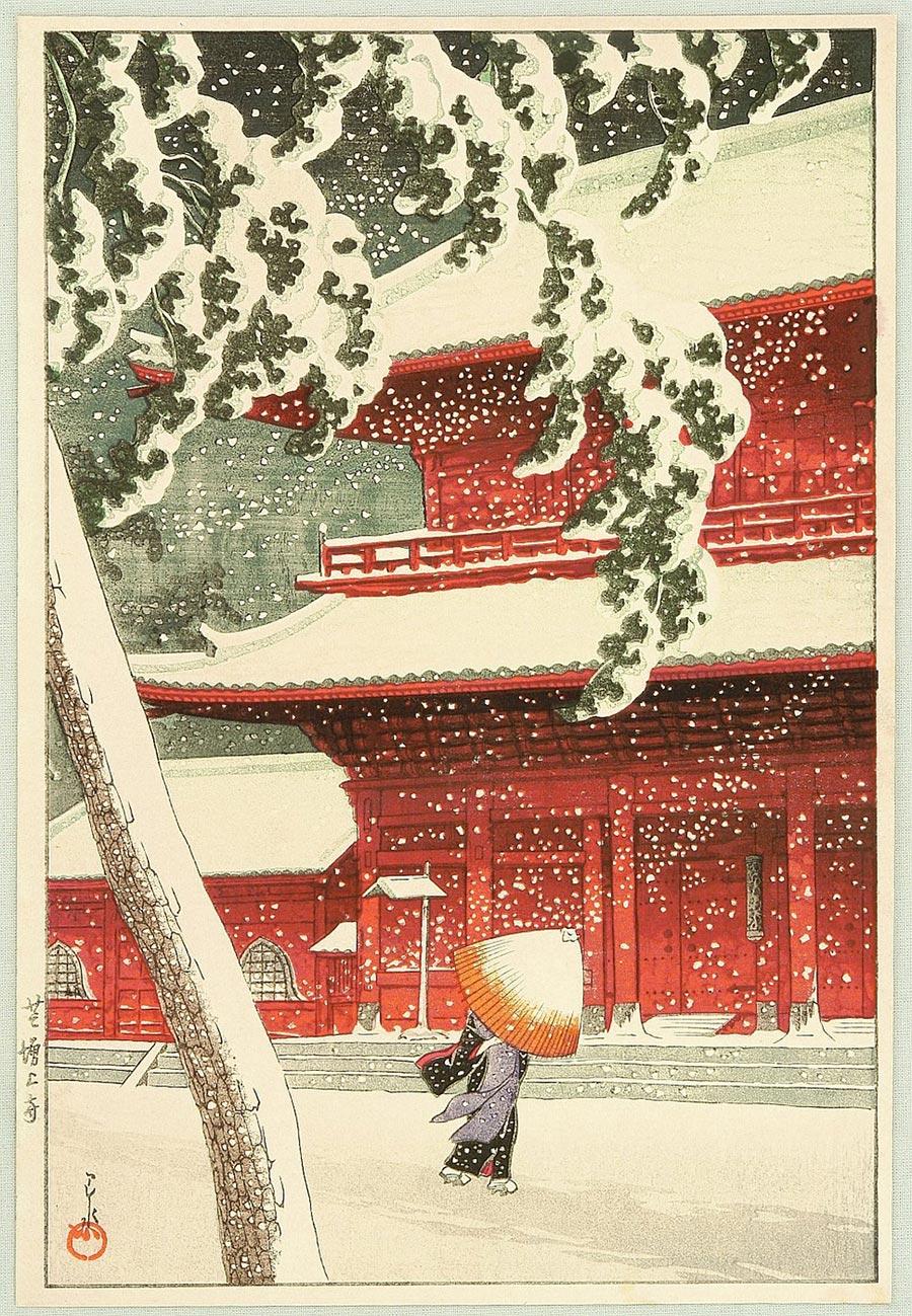 On-line архив японских гравюр, созданных с 1700-х годов до наших дней Кавасэ Хасуй