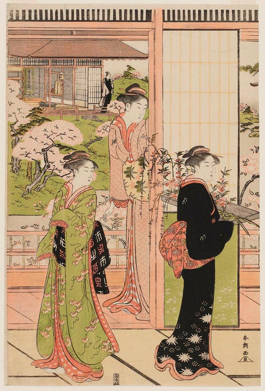 On-line архив японских гравюр, созданных с 1700-х годов до наших дней Кацукава Сюнсё