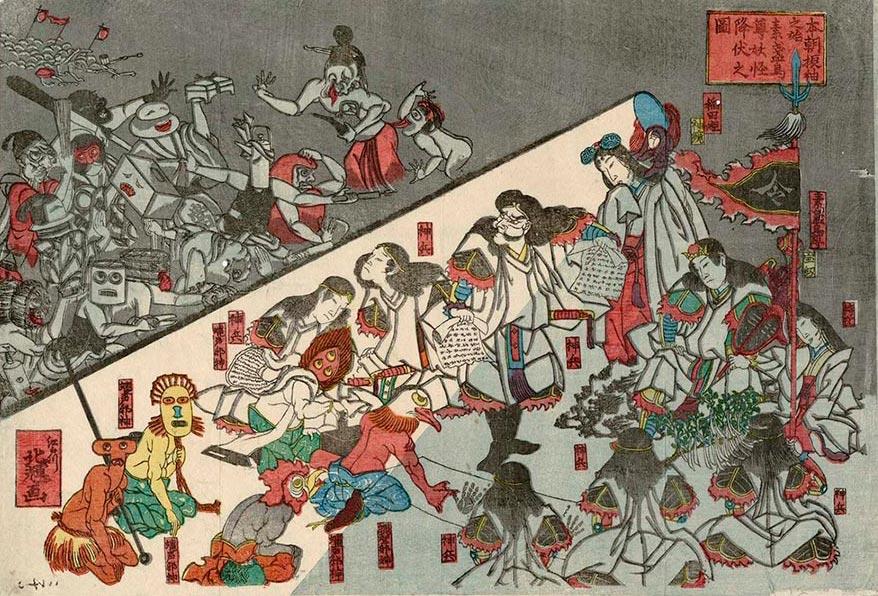 On-line архив японских гравюр, созданных с 1700-х годов до наших дней Кацушика Хокки