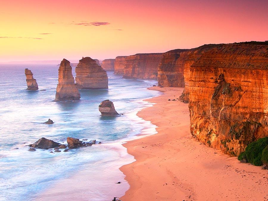 Восхитительная красота Австралии Скалы Двенадцать апостолов, национальный парк Порт-Кэмпбелл