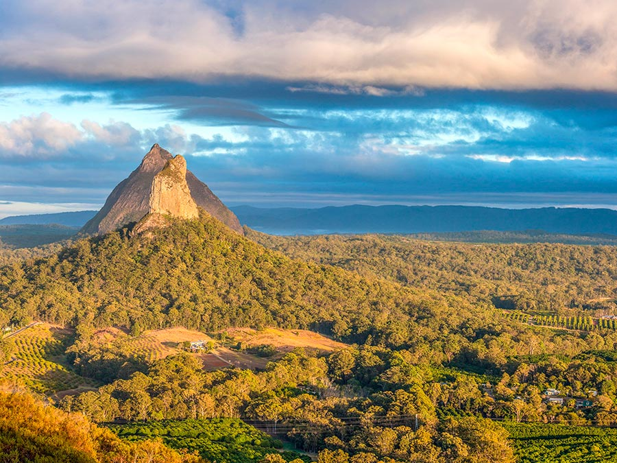 Восхитительная красота Австралии Холмы Гласс-Хаус, Квинсленд