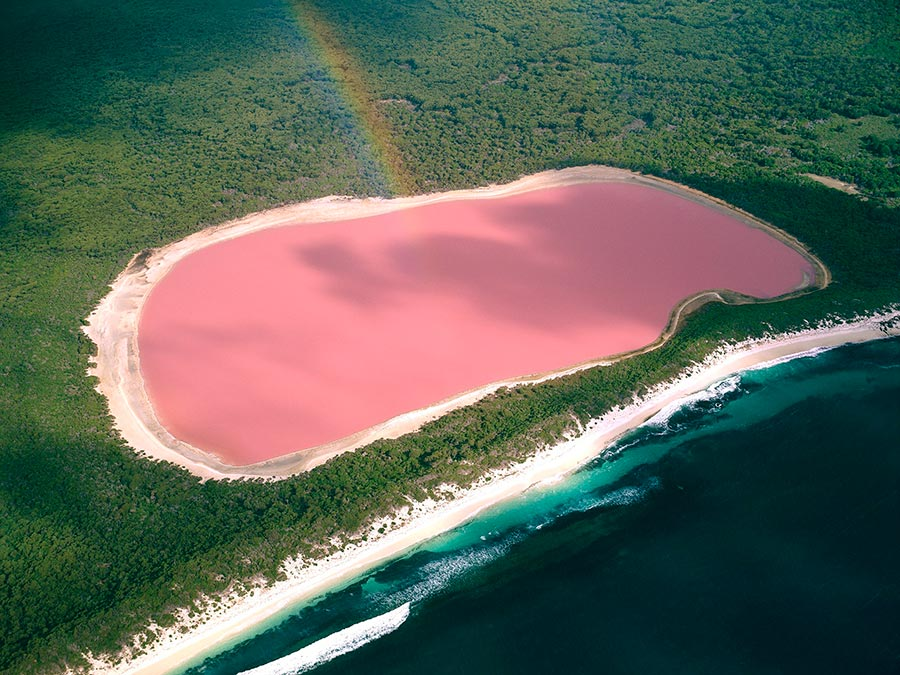 Восхитительная красота Австралии Озеро Хиллиер, остров Мидл-Айленд