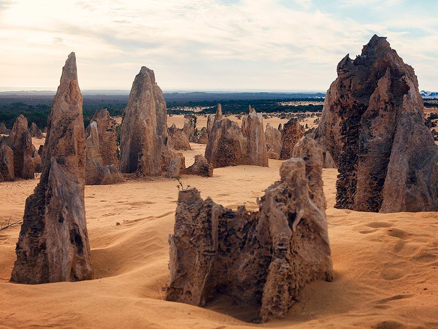 Восхитительная красота Австралии Те-Пиннаклс, Национальный парк Намбунг