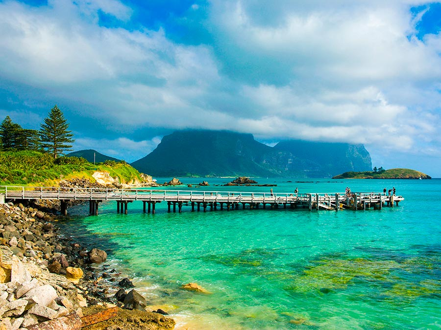 Восхитительная красота Австралии Остров Лорд-Хау, Новый Южный Уэльс