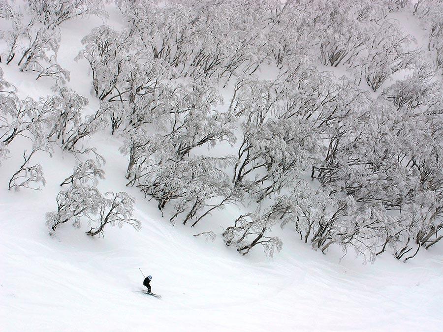 Восхитительная красота Австралии Гора Хотам, Австралийские Альпы, штат Виктория