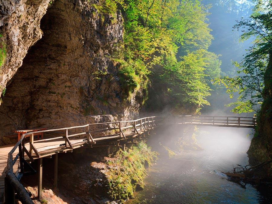 Самые прекрасные места Словении Ущелье Винтгар