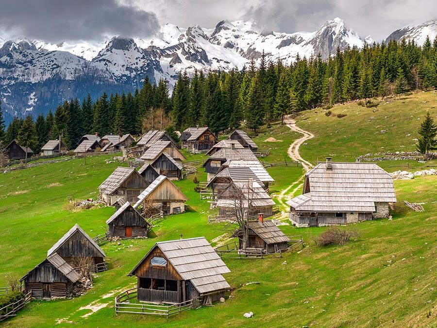 Самые прекрасные места Словении Плато Поклюка