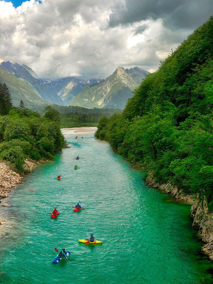 Самые прекрасные места Словении Река Соча