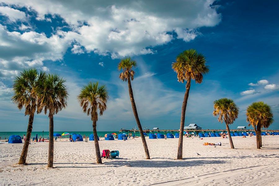 Самые великолепные пляжи в мире, по версии TripAdvisor Клируотер-Бич — Клируотер, штат Флорида