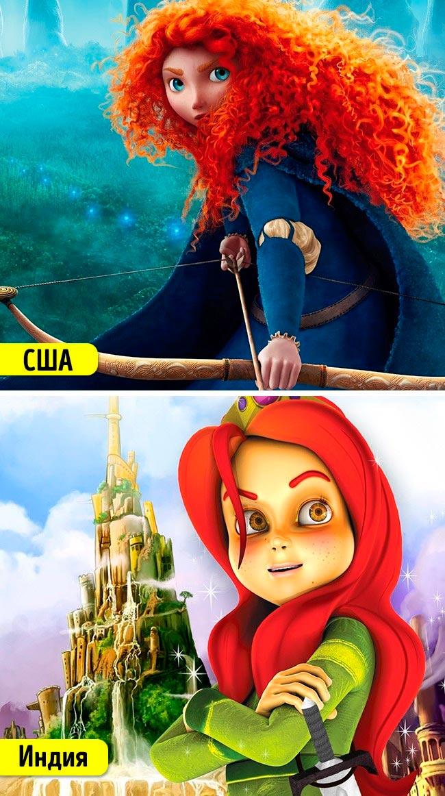 Известные мультфильмы, которые имеют аналоги в других странах Храбрая сердцем Храбрая Кьяра
