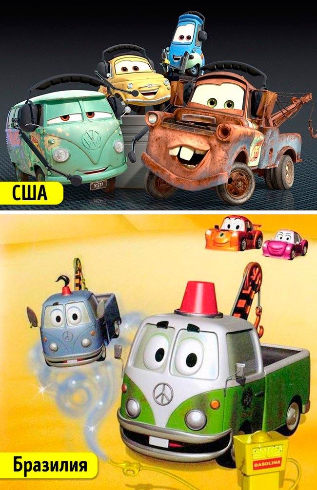 Известные мультфильмы, которые имеют аналоги в других странах Тачки Маленькие тачки