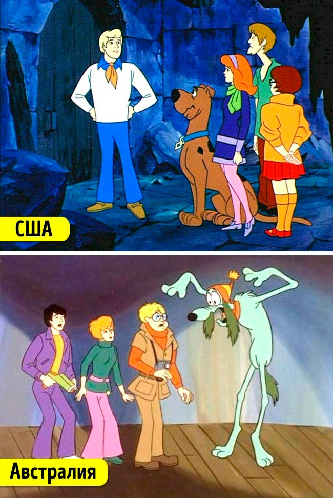 Известные мультфильмы, которые имеют аналоги в других странах Скуби-Ду Губер и охотники за призраками