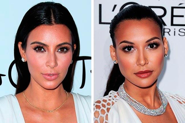 Знаменитости, которые подозрительно похожи Ким Кардашьян и Ная Ривера