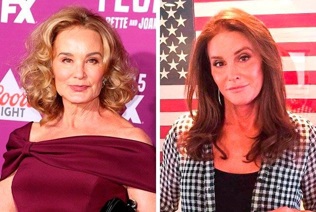 Знаменитости, которые подозрительно похожи Джессика Лэнг и Кейтлин Дженнер