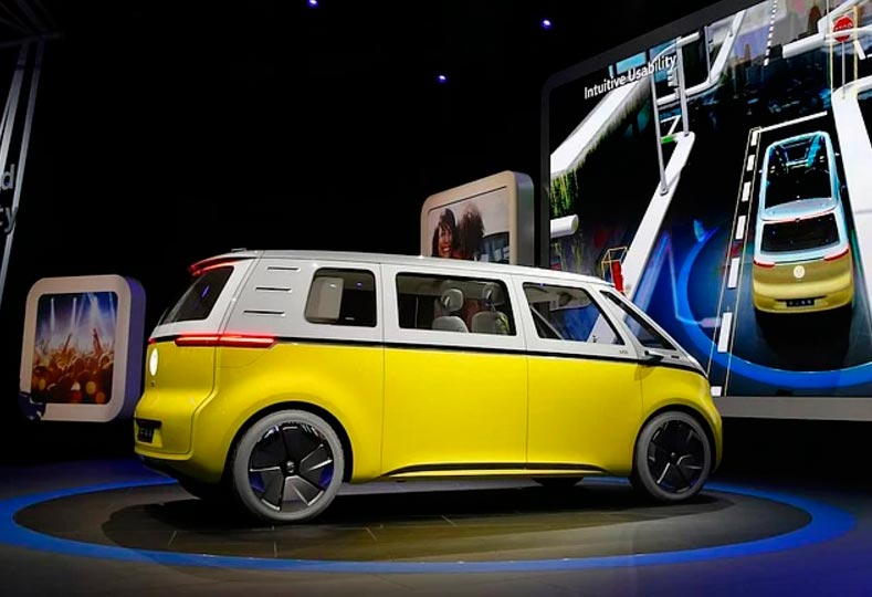 Самые крутые концепт-кары, представленные в 2017 году CES Volkswagen Hippiemobile