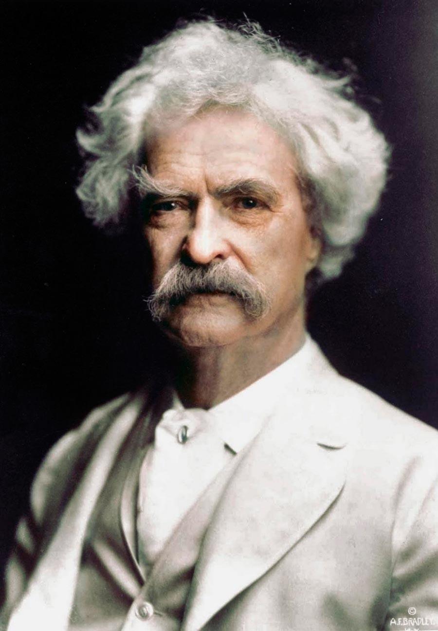 Культовые исторические фото - теперь в цвете Марк Твен