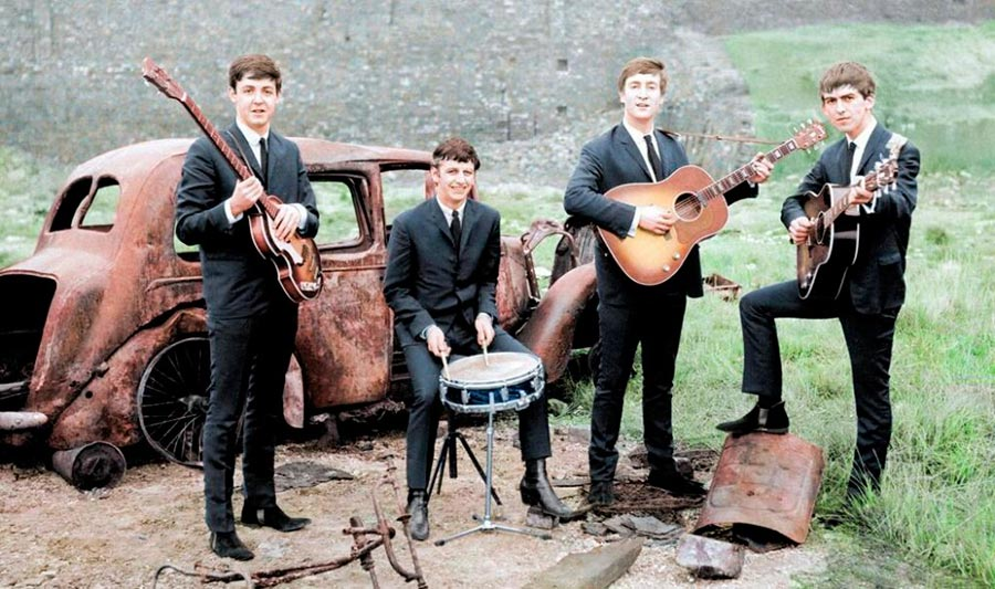 Культовые исторические фото - теперь в цвете Группа Beatles