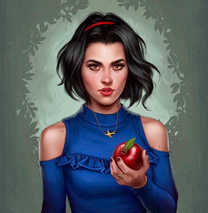 Диснеевские принцессы вот так выглядели бы в 2017 году Белоснежка