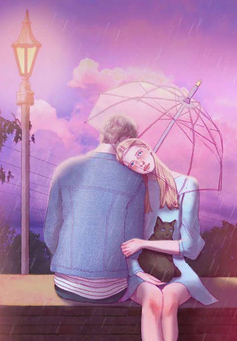 Hyocheon Jeong Хичон Джонг: романтические рисунки