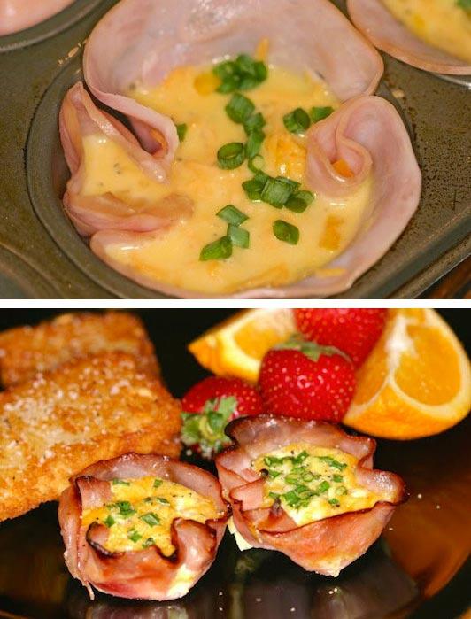15 супер-идей для вашего завтрака Ветчина с яйцом
