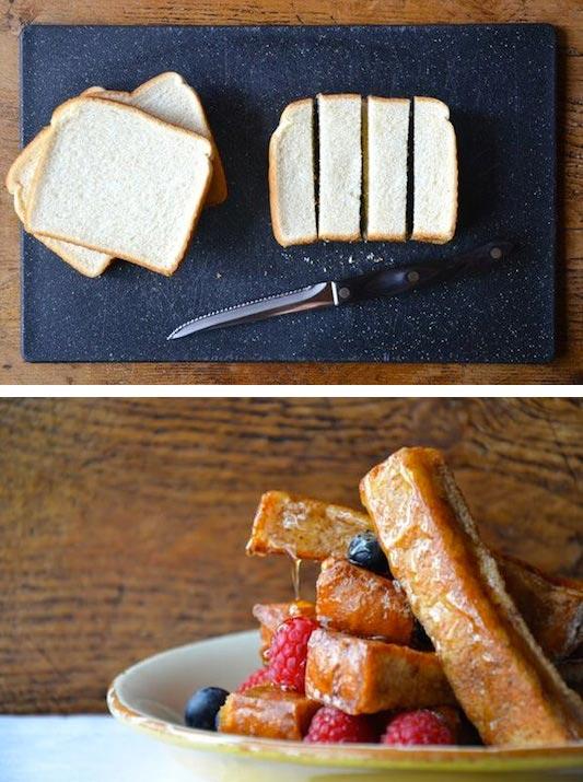 15 супер-идей для вашего завтрака Хлебные палочки в яйце