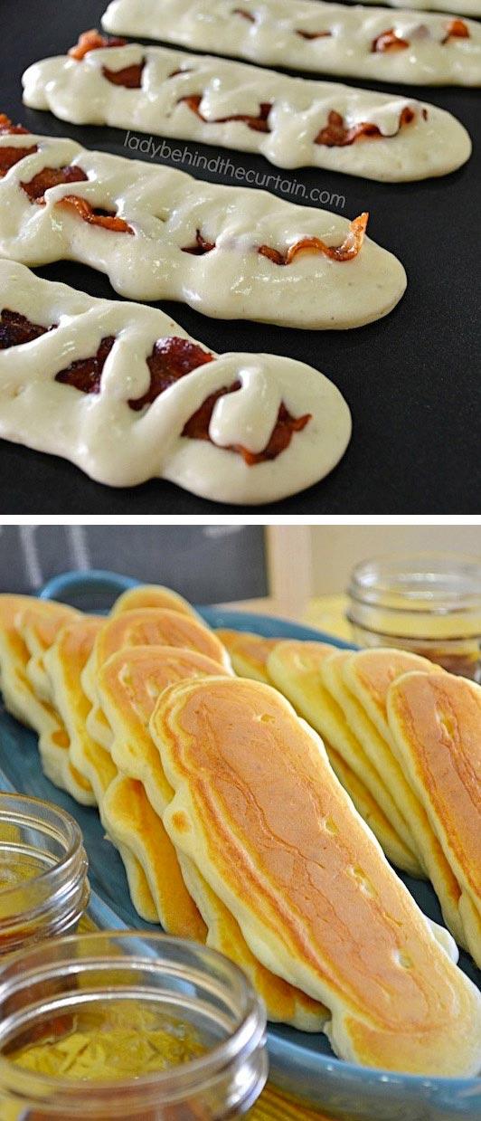 15 супер-идей для вашего завтрака Блинчики с беконом