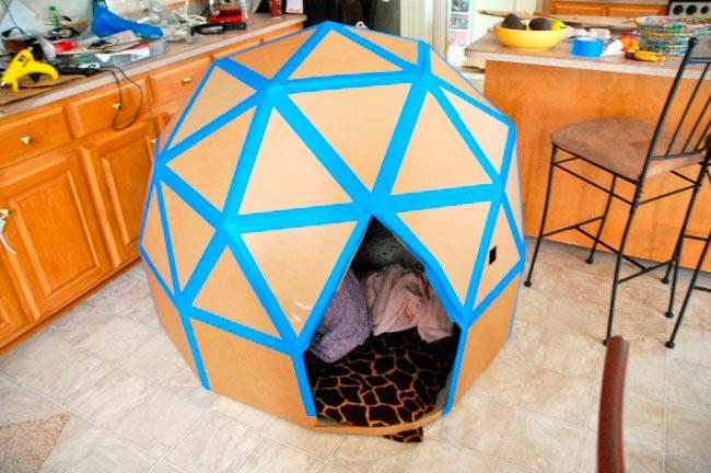 Лайфхаки из картонной коробки, которые сделают дом комфортнее Детский домик