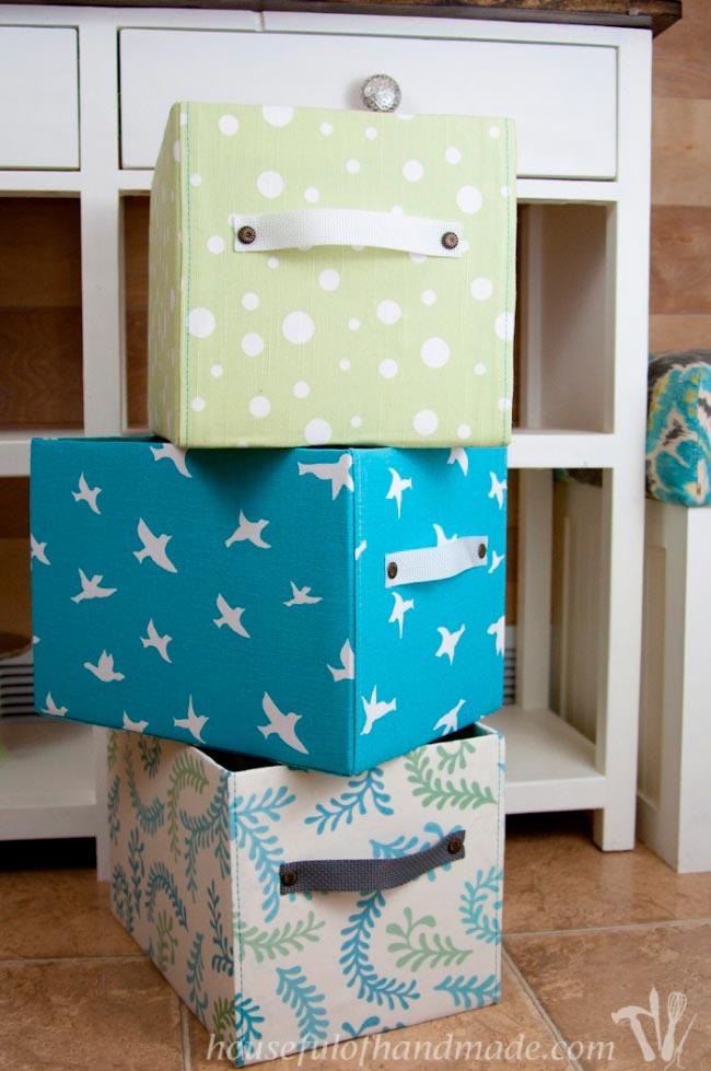 Лайфхаки из картонной коробки, которые сделают дом комфортнее Корзина для вещей