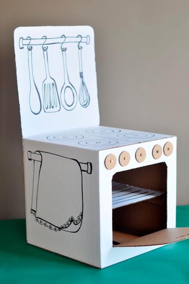 Лайфхаки из картонной коробки, которые сделают дом комфортнее Детская плита