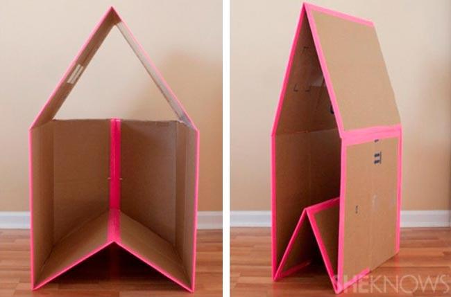 Лайфхаки из картонной коробки, которые сделают дом комфортнее Складной игрушечный домик