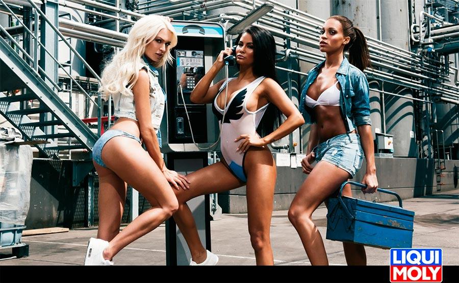 Модели которые снимались для календаря Liqui Moly'17