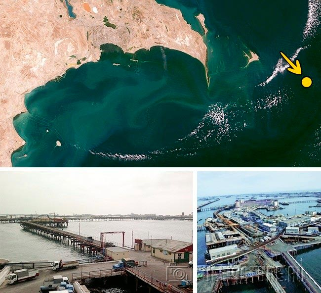 Самые невероятные города в мире Нефтяные камни, Азербайджан