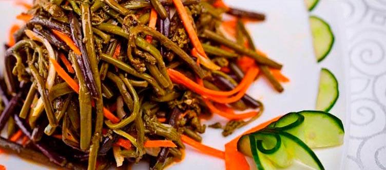 Жемчужина бурятской кухни: 10 блюд Салат из папоротника