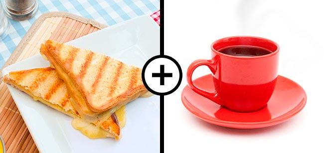 Продукты, которые не стоит смешивать Бутерброд и кофе