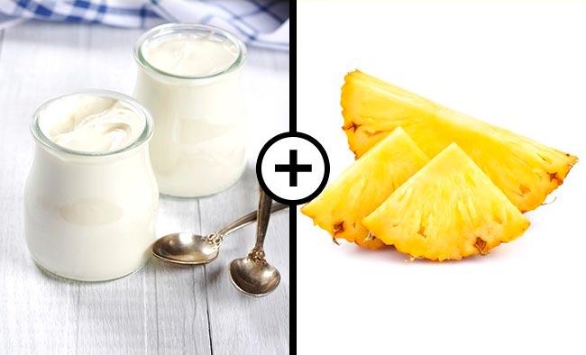 Продукты, которые не стоит смешивать Молочные продукты и ананас