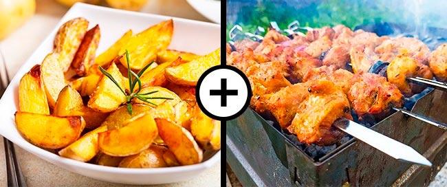 Продукты, которые не стоит смешивать Картофель и мясо