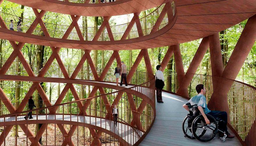 В Датском лесу появится спиральная башня для прогулок